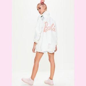 Barbie x Missguided blogger oversized denim jacket